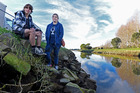 Jade Hurford and her son Blair, 13, were walking along the Waikareo Estuary when they saw a young boy cycle straight into the water. Photo/George Novak