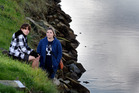 Jade Hurford with her son Blair, 13, after she rescued a young boy who fell into the water from the Daisy Hardwick walkway. Photo / Bay of Plenty Times