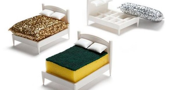 Indispensable: Clean Dreams, a kitchen sponge holder. Photo / Supplied