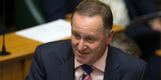 "Prime Minister John Key was told to ""just built some bloody houses"" while he was in Parliament today. Photo / Mark Mitchell"