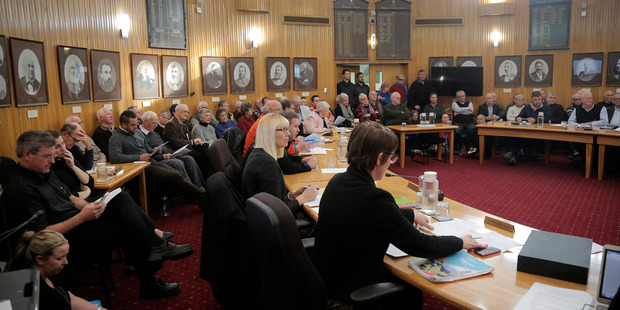 The Whanganui council chamber pulled a crowd for Tuesday's extraordinary meeting.