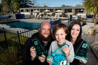 SUPREME AWARD: Rotorua Top 10 Holiday Park's Jared and Jasmine Adams with their son Konah, 6. PHOTO/STEPHEN PARKER