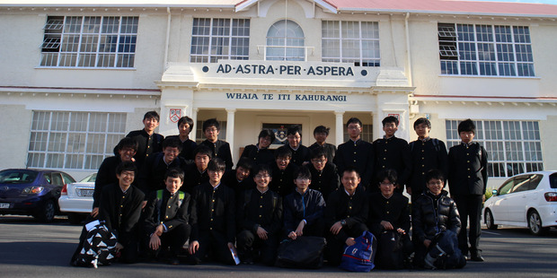 EXPERIENCE: Students from Shiba Boys' High School in Tokyo, Japan visited Rotorua Boys' High School. PHOTO/SUPPLIED