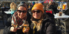 Joanna Hunkin and Kathryn Wilson at Clicquot in the Snow. Photo / Sunday Travel