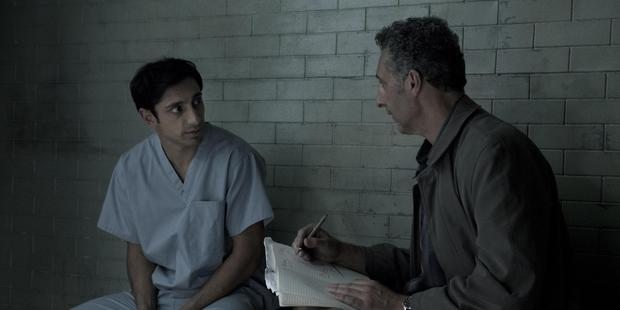 Riz Ahmed (left) is utterly convincing as the accused murderer and his lawyer John Turturro is superb in  The Night Of.