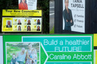 Election hoardings are popping all around Rotorua.