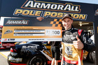Kiwi V8 Supercars driver Chris Pither with his first pole position during the Coates Hire Ipswich SuperSprint. Photo / Edge Photographics