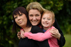 Frankie Egglestone (left), with her daughter Lexi, 7, and Lianne Bateman who is donating Ms Egglestone one of her kidneys. PHOTO/GEORGE NOVAK