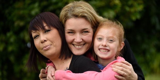 Loading Frankie Egglestone (left), with her daughter Lexi, 7, and Lianne Bateman who is donating Ms Egglestone one of her kidneys. PHOTO/GEORGE NOVAK