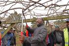 Prime Minister of Vanuatu Hon Charlot Salwai visited Eastpack and kiwifruit orchard in Te Puke. Photo/George Novak