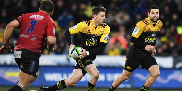 Beauden Barrett. Super Rugby Final between the Hurricanes and Lions at Westpac Stadium in Wellington, New Zealand. Saturday 6 August 2016. © Copyright Photo: Andrew Cornaga / www.Photosport.n