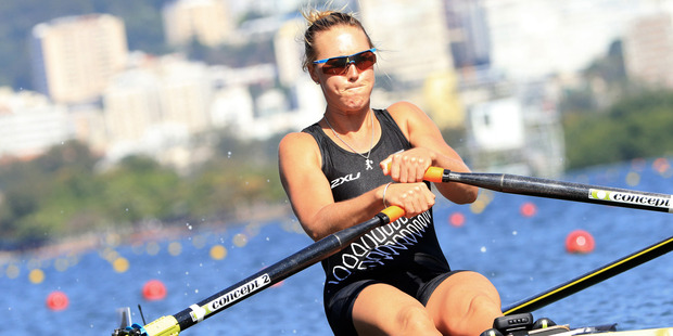 Emma Twigg will be taking part in the women's singles sculls semifinals at the Rio Olympics this Saturday. Photo / Photosport