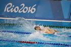 New Zealand swimmer Corey Main swims in the 100m backstroke semifinals. Photo / photosport.nz