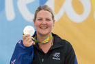 Natalie Rooney picks up New Zealand's first medal of the Rio games after winning Silver in the womens trap shooting. Photo / Photosport
