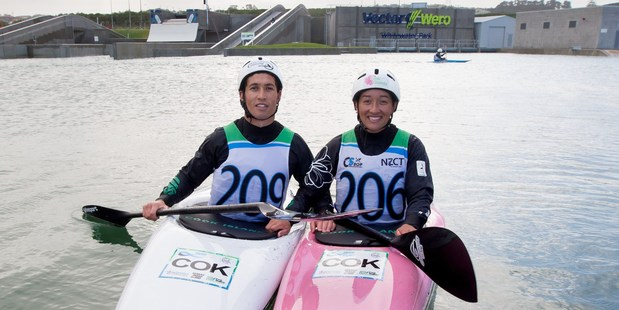 PROUD OLYMPIANS: Tauranga's Bryden, left, and Ella Nicholas are representing the Cook Islands at the Rio Olympics. PHOTO/Jamie Troughton Dscribe Media Services