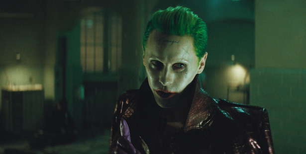 Jared Leto stars as The Joke in the movie, Suicide Squad.