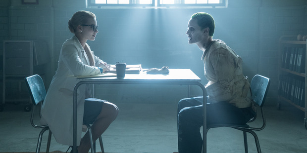 Margot Robbie as Harley Quinn and Jared Leto as The Joker from Suicide Squad.