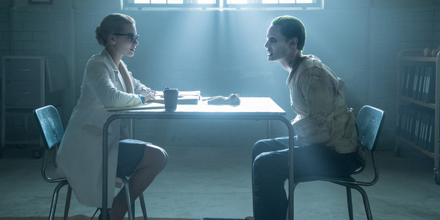 Margot Robbie and Jared Leto in a scene from, Suicide Squad.
