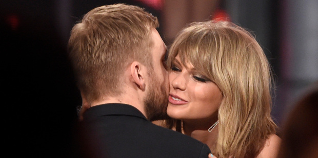 Calvin and Taylor, 26, split up at the end of May and she quickly moved on with Tom Hiddleston. Photo / AFP