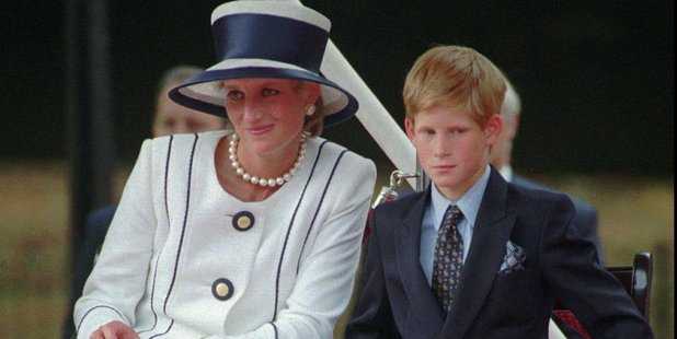 Loading Princess Diana with her son Harry in 1995. Photo / AP