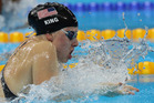 United States' Lilly King competes in a semifinal of the women's 100-meter breaststroke during the swimming competitions. Photo / AP.