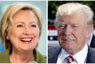 Democratic presidential candidate Hillary Clinton, left, and Republican presidential candidate Donal Trump. Photo / AP