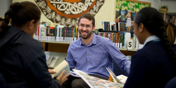Teach First NZ graduate Matthew Dadley at Mangere College. Education Minister Hekia Parata has announced the scheme will be fast-tracked. Photo / Michael Craig.