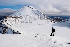 Tongariro Alpine Crossing: Snow for it