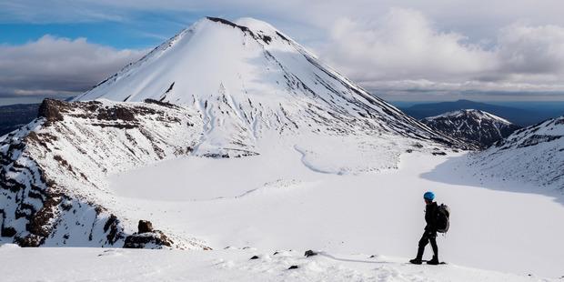 Tongariro is called an 'alpine crossing' for a reason. Photo / Adrift Tongariro; Zhi Yuen Yap