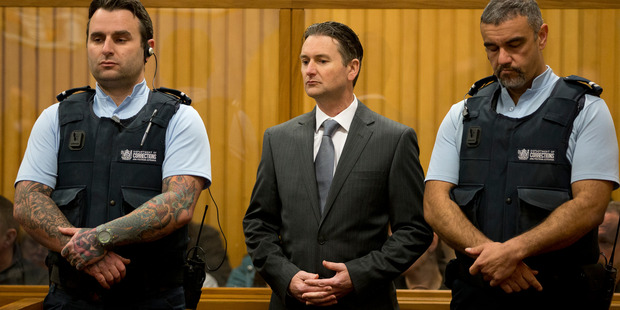 Quinton Paul Winders (centre) appears in the High Court at Rotorua. Photo / Alan Gibson