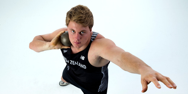 Olympic athlete portrait. New Zealand shot put Jacko Gill. Photograph by Brett Phibbs
