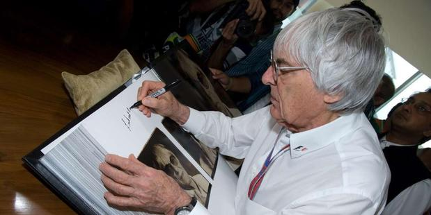 Formula One boss Bernie Ecclestone joked that he never intended to pay a ransom for the release. Photo / Supplied