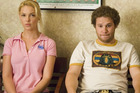 Katherine Heigl and Seth Rogen star as Alison and Ben in the comedy Knocked Up.