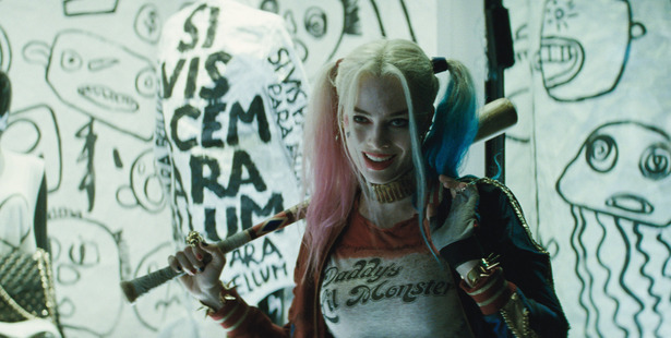 Margot Robbie stars as Harley Quinn in the movie, Suicide Squad.