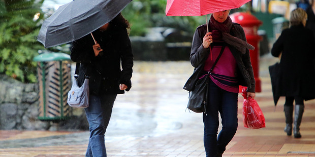 Umbrellas will be needed in Northland today and tomorrow with heavy rain and hailstones likely