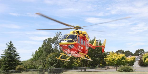 The Westpac Helicopter flew the injured man to hospital. Photo / File
