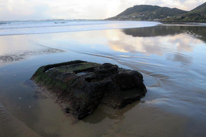 All that remains now can only be seen at low tide. Photo / Francis Malley