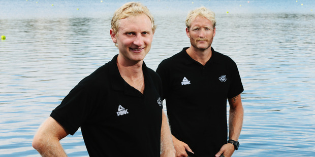 The New Zealand Mens Coxless Pair of Hamish Bond and Eric Murray are successful, and good looking.