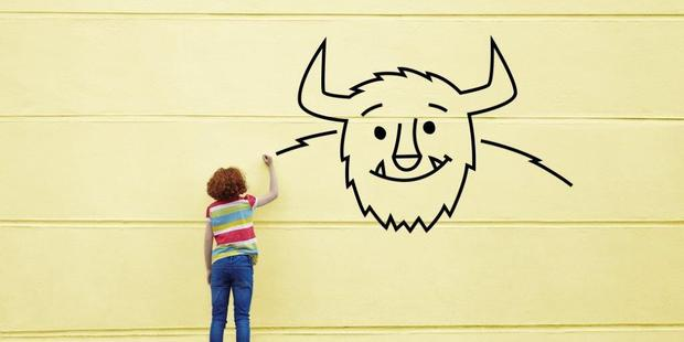 Monster-building is a great way to talk with young students and our own children about the creative process. Photo / Getty Images