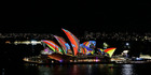 Sydney Opera House sails light up as part of Vivid Sydney. Photo / Getty Images