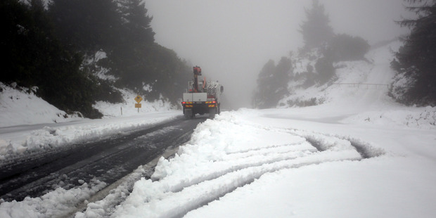 BIG CHILL: The Napier Taupo road is still closed following the weekend's weather bomb. PHOTO PAUL TAYLOR