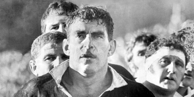 Colin Meads in action during the first test at Carisbrook, Lions Tour 1971.