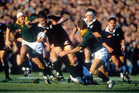 Zinzan Brooke on the burst in the history-making 1996 tour of South Africa. Photo / Photosport.nz