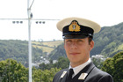 Royal Navy Officer Cadet Patrick Richardson finishes training at the Britannia Royal Navy College in Dartmouth, England.  PHOTO/ CRAIG KEATING
