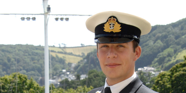 Royal Navy Officer Cadet Patrick Richardson finishes training at the Britannia Royal Navy College in Dartmouth, England.  PHOTO/ CRAIG KEATING