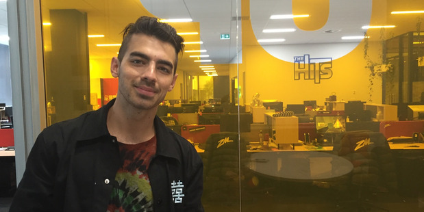 Joe Jonas at NZME. Photo / Tess Nichol
