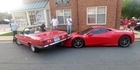 Watch: Driver reverses Mercedes over rare Ferrari 458