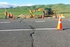 Work to repair the cracking in State Highway 5 near Tumunui will start from Monday.  Photo/Supplied