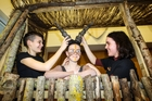 The Lion King Jr crew members Hope Phillips, left, Ruby Andrews and Lydia Hill. Photo / Paul Taylor