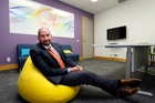 Garry Trigg, manager of Whangarei Law Courts, in the updated child-friendly room - the first in the country. Photo / John Stone